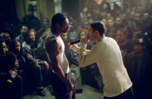 8 Mile, one of the most awesome movies ever. You all should watch it . . . NOW!  Go, I'll wait